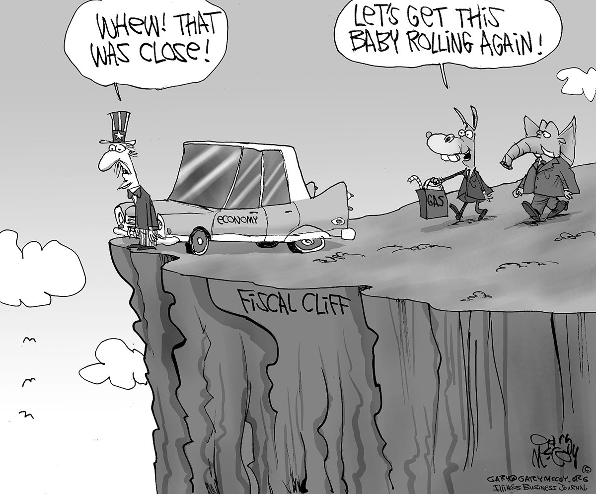 cartoon 11 2013 Fiscal Cliff